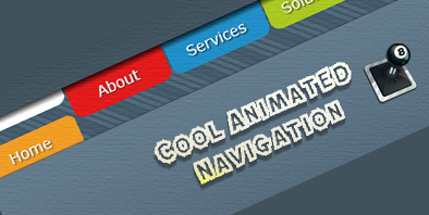 Cool Animated Navigation with CSS and jQuery