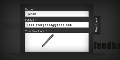 jQuery plugin for contact / feedback forms