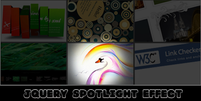 jQuery Spotlight Effect Tutorial