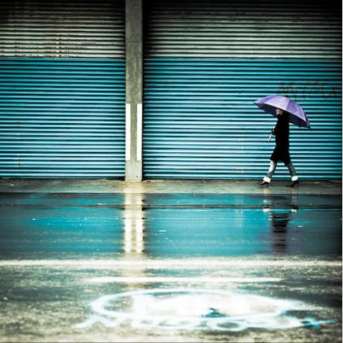 Rain street photography