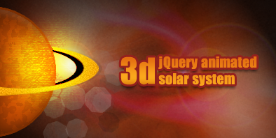 3d jQuery animated solar system