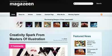 Free Theme: Magazeen. Style & Functionality in one Theme, now on Smashing Magazine