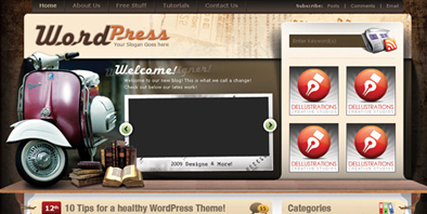 Vintage: A Free WordPress Theme