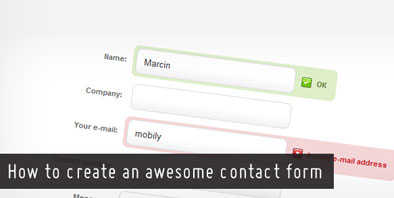 Create Awesome Contact Form in jquery and css