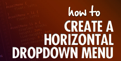 Create a Horizontal Dropdown Menu with HTML, CSS and jQuery